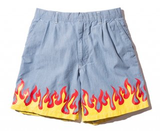 FLAME SHORTS(BLUE)