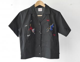 Bowling shirt(BLACK)