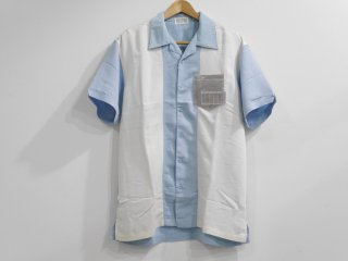 OPEN-NECKED SHIRT(LT.BLUE)