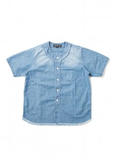 BASE BALL SHIRT(INDIGO)