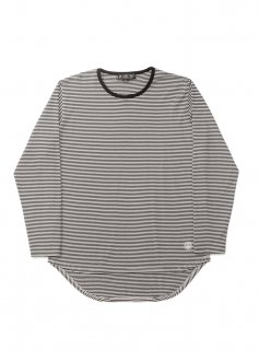 DUCK TALE THIN STRIPED TEE(BLACK)