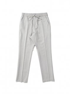 DRAWSTRING WOOL TROUSER(LT.GRAY STRIPE)
