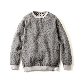 REVERSIBLE JQD CREW KNIT(GREY)
