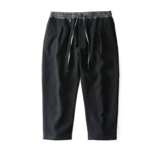 WOOLY CROPPED WIDE PTS(BLACK)