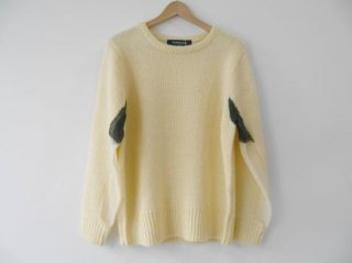 MOHAIR KNIT PLANE(OFF WHITE)