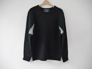 MOHAIR KNIT PLANE(BLACK)