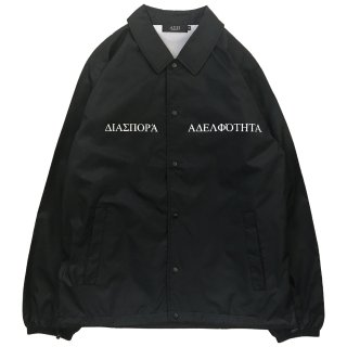 LONG LETTER MAGIC CIRCLE COACH JACKET (BLACK)