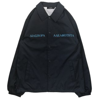 LONG LETTER MAGIC CIRCLE COACH JACKET (NAVY)