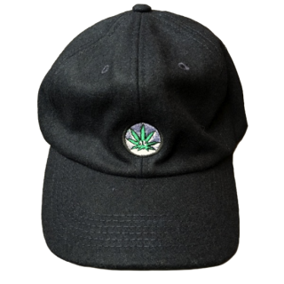 WEED WOOL CAP(BLACK)