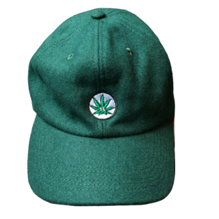WEED WOOL CAP(GREEN)