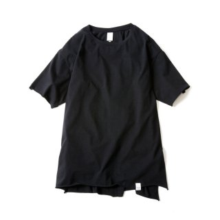 CUT OFF FINE TEE (BLACK)
