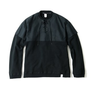 COMBINED MIL CREW SWEAT(BLACK)