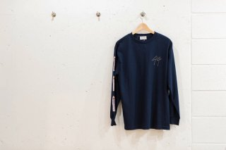 SPRAY L/S TEE(NAVY)