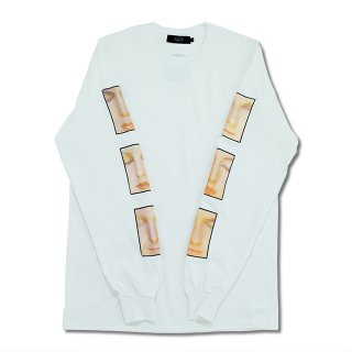 FACES L/S TEE(WHITE)