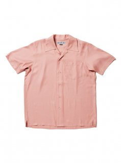 SOLID RAYLON SS SHIRT(DUSTY PINK)