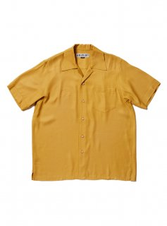 SOLID RAYLON SS SHIRT(MUSTERD)