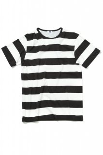H.S Crew Printed Border T(WHITE×BLACK)