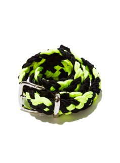 BRAIDED BELT(BLACK×NEON YELLOW)
