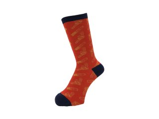 <img class='new_mark_img1' src='//img.shop-pro.jp/img/new/icons5.gif' style='border:none;display:inline;margin:0px;padding:0px;width:auto;' />WHIMSY SOCKS 32/1 LIPSTICK N GUN SOCKS(RED)