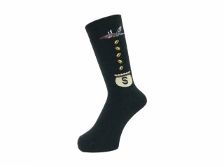 <img class='new_mark_img1' src='//img.shop-pro.jp/img/new/icons5.gif' style='border:none;display:inline;margin:0px;padding:0px;width:auto;' />WHIMSY SOCKS 32/1 MONEY RAIDERS SOCKS(BLACK)