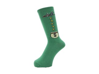 <img class='new_mark_img1' src='//img.shop-pro.jp/img/new/icons5.gif' style='border:none;display:inline;margin:0px;padding:0px;width:auto;' />WHIMSY SOCKS 32/1 MONEY RAIDERS SOCKS(GREEN)