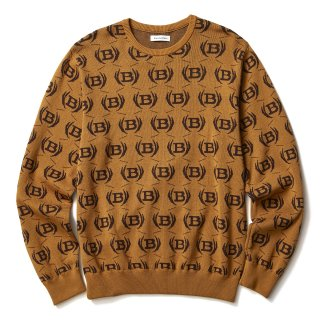 EMBLEM KNIT SWEATER(KHAKI)