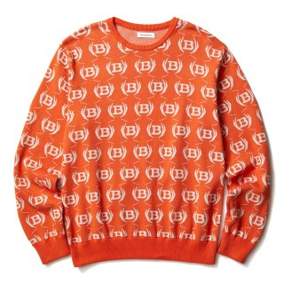 EMBLEM KNIT SWEATER(ORANGE)