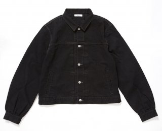 PUFF DENIM JACKET(BLACK)