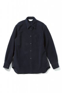 REGULAR COLLAR SNAP SHIRT(NAVY)