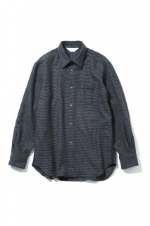 REGULAR COLLAR SNAP SHIRT(GRAY×BLACK)