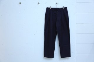 2TUCK WIDE SLACKS(NAVY)
