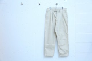 2TUCK WIDE SLACKS(SAND)