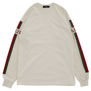 STRIPES L/S TEE (Natural)