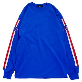 STRIPES L/S TEE (Royal)