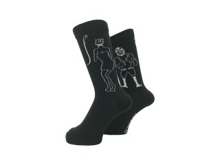 WHIMSY 32/1 SHOWER ROOM SOCKS BLACK