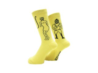 WHIMSY 32/1 SHOWER ROOM SOCKS YELLOW