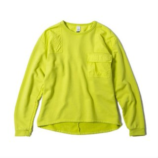 OVER DYED MIL CREW(VOLT YELLOW)