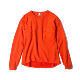 OVER DYED MIL CREW(HERMES ORANGE)