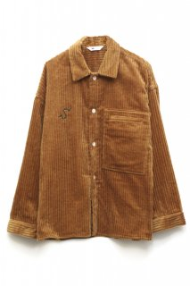 <img class='new_mark_img1' src='//img.shop-pro.jp/img/new/icons5.gif' style='border:none;display:inline;margin:0px;padding:0px;width:auto;' />CORDUROY SHIRT JACKET(BROWN)
