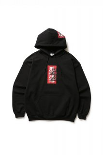 LABEL HOODED SWEATSHIRT(BLACK)
