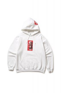 LABEL HOODED SWEATSHIRT(WHITE)