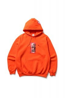 LABEL HOODED SWEATSHIRT(ORANGE)