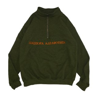 <img class='new_mark_img1' src='//img.shop-pro.jp/img/new/icons5.gif' style='border:none;display:inline;margin:0px;padding:0px;width:auto;' />LONG LETTER HALF ZIP SWEAT (MOSS)