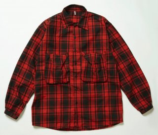 NEL POCKET SHIRTS(RED CHECK)