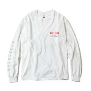 MASSACRE VIDEO PRODUCTION LS TEE(WHITE)
