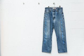 <img class='new_mark_img1' src='//img.shop-pro.jp/img/new/icons5.gif' style='border:none;display:inline;margin:0px;padding:0px;width:auto;' />CUSTOM DENIM PANTS(BLUE×BLUE)