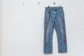 <img class='new_mark_img1' src='//img.shop-pro.jp/img/new/icons5.gif' style='border:none;display:inline;margin:0px;padding:0px;width:auto;' />CUSTOM DENIM PANTS(BLUE×RED)