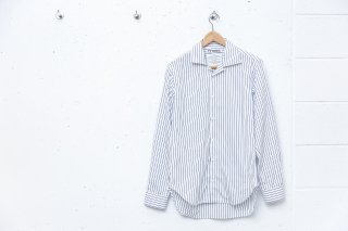 OPEN COLLAR SHIRT(STRIPE)