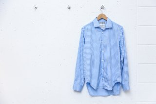 OPEN COLLAR SHIRT(BLUE)