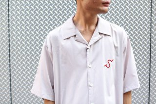 "H/S OPEN COLLAR SHIRT ""S""(PINK)"